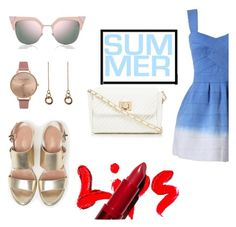 """Summer"" by teen105 ❤ liked on Polyvore featuring Max&Co., Fendi, Red Herring, Olivia Burton and Laura Lombardi"