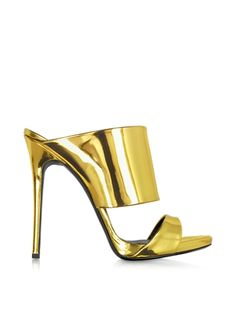 Giuseppe Zanotti Gold Metallic Leather Sandal