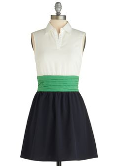 Window Herb Garden Dress - Mid-length, Green, White, Color Block, Sleeveless, Spring, Blue, Casual, A-line