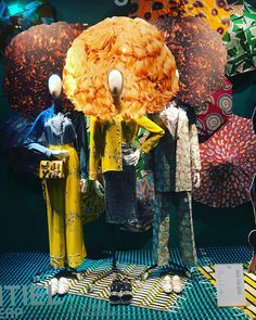 "GALERIES LAFAYETTE, Paris, France, ""May your fro grow & your skin glow"", for Africa Now Exhibition, photo by The Window Lover, pinned by Ton van der Veer"