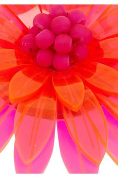 Azalea neon acrylic flower brooch by Issa. A way to live colorfully, no matter what the rest of your outfit...