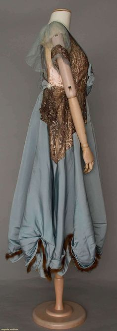 Gown (image 2) | House of Worth | France; Paris | 1916 | silk, fur | Augusta Auctions | April 20, 2016/Lot 211