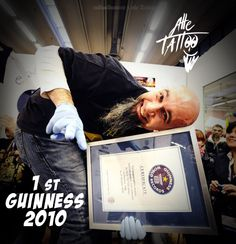 1st Guinness World Records - The longest tattoo session- 2010.....and now?