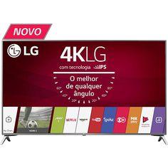 "Smart TV LED 49"" LG 49UJ6525 Com Conversor Digital 4 HDMI 2 USB Painel Ips, Hdr e Magic Mobile"