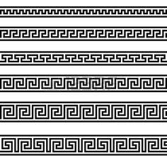 Is it a Mistake To Decorate With A Greek Key Motif? Is it a Mistake To Decorate With A Greek Key Motif? Geometric Pattern Tattoo, Pattern Tattoos, Abstract Pattern, Geometric Tattoos, Geometric Designs, Versace Tattoo, Tattoos Schulter, Versace Pattern, Ornament Pattern