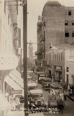 Calle El Conde,años 30,Santo Domingo,República Dominicana.