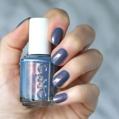 """Essie """"Blue-tiful Horizon"""" from its Desert Mirage 2018 Collection! Look at that pretty blue-purple with pink micro shimmers! Essie Nail Polish Colors, Cute Nail Polish, Cute Nails, Pretty Nails, Gel Polish, Manicure And Pedicure, Gel Nails, Glitter Nails, Soft Pink Nails"""