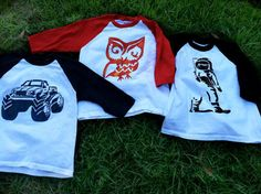 Baseball Tee Shirts, Custom Stencils, Kids Wardrobe, Cute Monsters, Pick One, Creative Gifts, A Boutique, Colorful Shirts, Two By Two