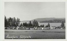 Värmland Åmotfors tältplats 1940-talet Fiskevik?