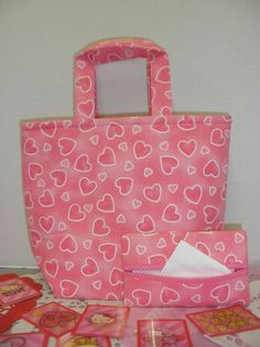 Pretty Pink Hearts Valentine Tote by NotWithoutAnnette on Etsy, $13.00
