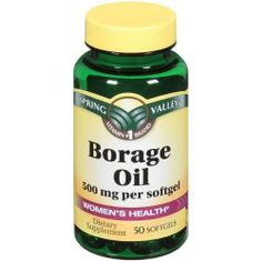 Spring Valley - Borage Oil 500 mg, 50 Softgels by Spring Valley. $2.91. Borage Oil is a vegetable oil derived from a blue-flowering plant (Borago Officinalis), and is one of the few plant sources of Gamma-Linolenic Acid (GLA), a fatty acid not commonly found in food. Borage Oil supports cellular and metabolic health. This supplement also contains Vitamin E, for heart and antioxidant health.. Save 64%!