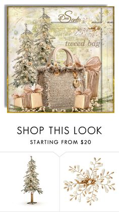 """Dear Santa....i want Tweed Bag under my Christmas Tree:)"" by mrswomen ❤ liked on Polyvore featuring Improvements and Kim Seybert"