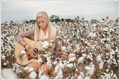 Senior Portrait Photography in a Cotton Field in Hattiesburg, MS | April + Paul Photography