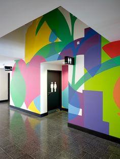 Kentish Town Health Center - Wall #graphics http://www.valiantdesigners.com/
