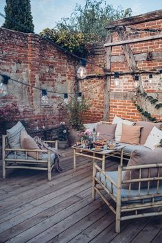 Our new terrace in the country-Unsere neue Terrasse auf dem Land Our new terrace in the country - Outdoor Furniture Sets, Outdoor Decor, Outdoor Sofa, Rustic Furniture, Antique Furniture, Rustic Outdoor Spaces, Furniture Ideas, Outdoor Decking, Wooden Garden Furniture