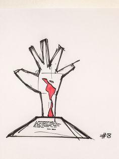 #8 Sculpture at Latin America Memorial, 1989, by Oscar Niemeyer in São Paulo, Brazil // sketchingin.wordpress.com