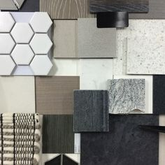 ~ FINISHES ~ residential palette for a sleek architectural project! Having lots…