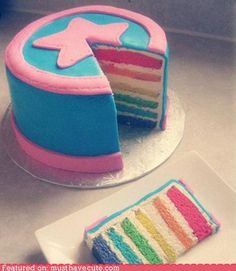 another way to do rainbow cake