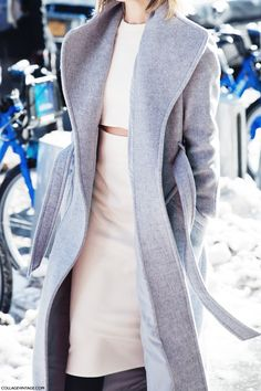 White and grey coat