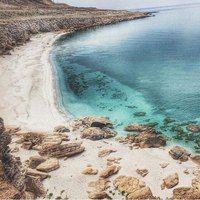 Caspian Sea. Blue Bay. Aktau