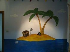 Sea Murals, Wall Murals, Wall Art, School Murals, Mural Ideas, Toy Rooms, Pirate Theme, Baby Room, Pirates