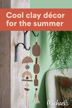 You will love working with this super cool clay that, once hardened, looks and feels similar to leather. Simply make trendy shape cutouts from clay and connect with jump rings. Polymer Clay Crafts, Diy Clay, Diy Arts And Crafts, Diy Crafts, Creation Deco, Paperclay, Summer Crafts, Clay Projects, Clay Art