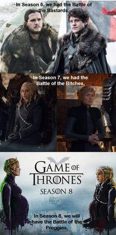 Season 8 battle, Game of Thrones.