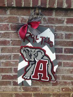 Alabama door hanger by RiversLaneDoorDecor on Etsy, $30.00