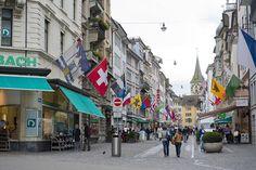 Stroll along Bahnhofstrasse in Zurich, Switzerland.
