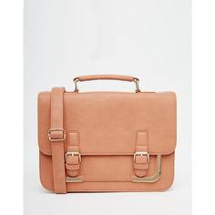 ASOS Metal Corner Satchel Bag (11.030 HUF) ❤ liked on Polyvore featuring bags, handbags, dusty pink, red handbags, pink satchel handbags, satchel handbags, red satchel purse and red satchel handbags