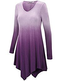 e5b1ec262b9d46 Amazon.com  Purple - Tunics   Tops  amp  Tees  Clothing