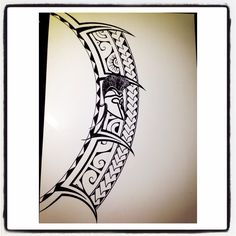 Polynesian tattoo drawing. Spartan inspired!!