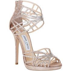 Jimmy Choo Diva Crystal Cut-Out Sandal - Polyvore