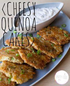 cheesy quinoa cakes.