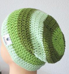 my boshi Häkelmütze,my boshi WolleNr2 Label Mütze Beanie Sommer grün Töne,NEU***