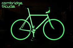 "Great for visibility at night (and so cool-looking). This looks like the ""Nightbikes"" in the Blackberry commercial."