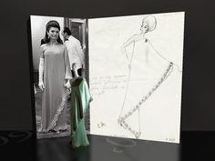Jackie Kennedy dress sketch 1967