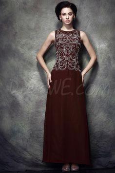 Dresswe.com SUPPLIES Elegant Appliques/Beading A-Line Floor-Length Scoop Neckline Polina's Mother of the Bride Dress Mother Dresses 2014