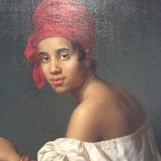 Creole in a Red Headdress 1840 by Jacques Guillaume Lucien Amans #neworleans #creole #frenchquarter