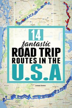 14 road trip routes in the USA! Want some road trip inspiration? These 14 US road trip ideas will provide you with the perfect USA road trip. #usroadtrip #usaroadtrip #roadtrip #roadtrips