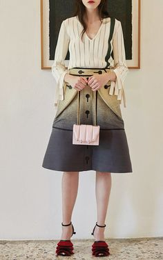 e9a4eb1e2a17 Ombre Jacquard Skirt by Marco de Vincenzo