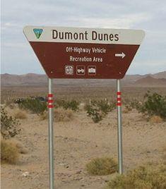 Dumont Dunes Highway Sign