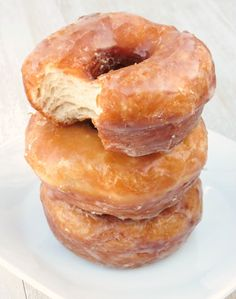 The Best {and Easiest} Glazed Donuts - Sprinkle Some Sugar