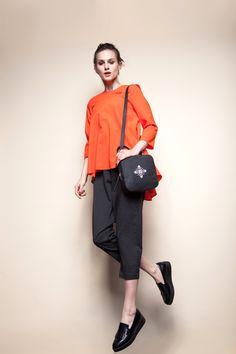 MAGPIE BLACK EMBROIDERED LEATHER BAG  #leatherbag #bag #crossbodybag #embroidery #fashion #designer #design