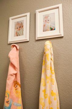 Girls' Bathroom: Towel Hangers