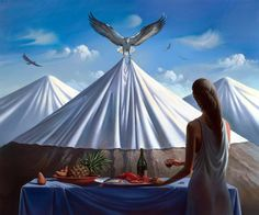 70 amazing paintings by the surrealist artist Vladimir Kush who also being called Russian Salvador Dali Vladimir Kush, Salvador Dali, Magritte, Surrealism Painting, Artist Painting, Wassily Kandinsky, Magic Realism, Modern Artists, Sacred Art