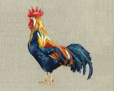Rooster  Print of Original Painting on Irish by aBirdInTheHand2013, €12.00