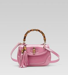Gucci spring 2012 Pink patent bag to die for....