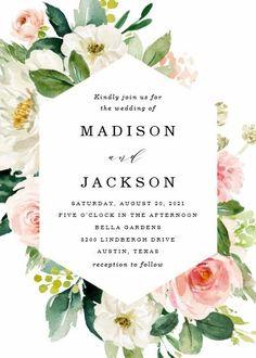 Blush Florals | Wedding Invitation