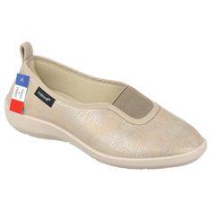 Balerini ortopedici bej dama, PodoWell Taissy - fabricati in Franta, din material textil de tip stretch. Brant detasabil, talpi usoare si flexibile. Marimi: 36-42.